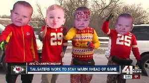 Chiefs fans tailgate early despite cold temperatures [Video]