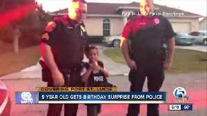 5-year-old gets birthday surprise from Port St. Lucie police [Video]