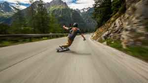 Incredible video shows teenager skating down the hill through French Alps at 68mph [Video]