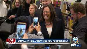 California Sen. Kamala Harris announces she's running for president in 2020 [Video]
