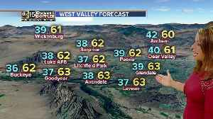 Cold front bringing wind, cooler air [Video]