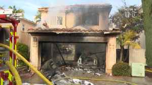 Fire tears through 2-story Scripps Ranch house, also damages neighboring home [Video]