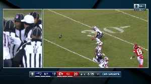 Call overturned: Ref determines ball did not touch Julian Edelman [Video]