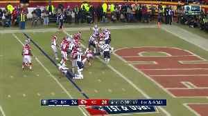 Burkhead burrows in for TD and late lead [Video]