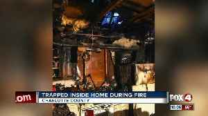 Trapped inside home during fire [Video]