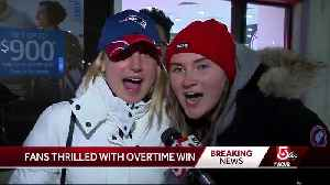 Fans thrilled with Patriots' overtime win [Video]