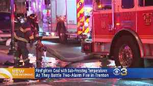 Firefighters Battle Two-Alarm Rowhome Fire In Trenton [Video]