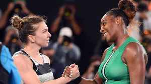News video: Serena Williams Walked Onto The Australian Open Court During Simona Halep's Announcment