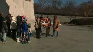News video: Wreath laying ceremony held at MLK Memorial