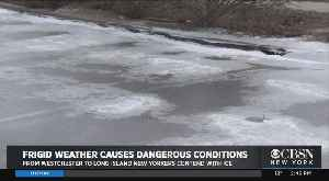 Update: Freezing Wind Turning Parking Lots Into Sheets Of Ice [Video]