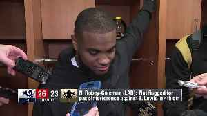 New Orleans Saints wide receiver Tommylee Lewis, Los Angeles Rams cornerback Nickell Robey-Coleman react to no-pass interference [Video]