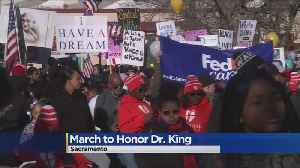Marchers Honor The Life And Legacy Of Dr. Martin Luther King Jr. [Video]