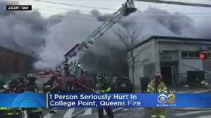 1 Person Critical, 3 Firefighters Hurt In Queens Fire [Video]