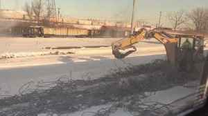 Amtrak train stopped in Gary [Video]