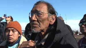 News video: Native American Elder Nate Phillips Spoke at Standing Rock