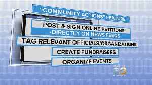 News video: New Facebook Feature Allows Users To Sign Petitions Right On News Feed