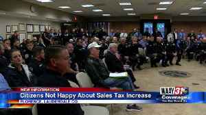 Citizens Not Happy About Sales Tax Increase [Video]
