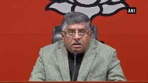 Ravi Shankar Prasad questions Kapil Sibal's presence at EVM hackathon [Video]