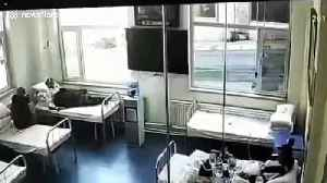Out-of-control lorry smashes through hospital wall injuring two [Video]