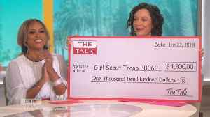 The Talk - 'The Talk' Donates Money to New Jersey Girl Scouts After Being Robbed of Nearly $1,200 [Video]