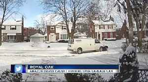 Amazon driver caught on camera crashing into garbage cans in Royal Oak [Video]