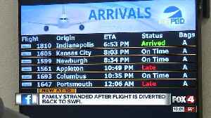 Family stranded after flight diverted mid-air [Video]