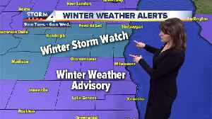 Winter Storm Watch issued for our northern counties Tuesday [Video]