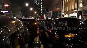 London black cab drivers block streets protesting at Tottenham Court Road [Video]