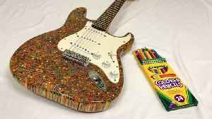 A true work of (guit)art: Musician creates stunning playable guitar out of 1200 colouring pencils [Video]
