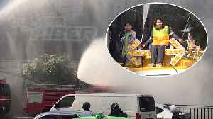 Water Cannons Try To Control Pollution [Video]
