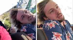 Roller coaster of emotions – first time thrill-seeker passes out on extreme ride at theme park  [Video]