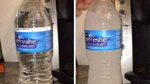 Incredible moment bottled water instantly freezes when banged against table [Video]