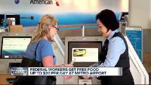 Concession stands at Detroit Metro Airport offering employees free food during shutdown [Video]