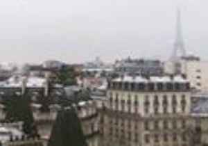 Snow Falls Over Paris as Cold Front Moves Over France [Video]