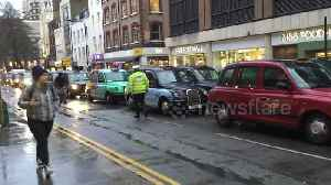 London cabbies block Tottenham Court Road over vehicle ban [Video]
