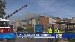 Man Rescues Neighbors During Deadly Fire [Video]