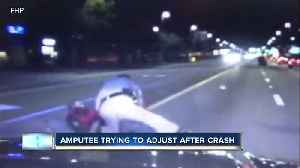 Man loses both legs in motorcycle crash, wants to thank trooper for saving his life [Video]