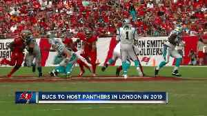 Tampa Bay Buccaneers to play Carolina Panthers in London in 2019 [Video]