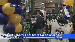Rams Fans Stock Up On Gear [Video]