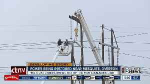 Crews replacing power police after fire at Reid Gardner [Video]