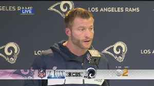 Rams Coach Sean McVay: Tom Brady, Patriots Will Be 'A Great Challenge' [Video]
