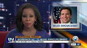 Gov. DeSantis to make another 'major announcement' Tuesday morning [Video]