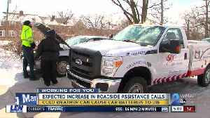 Roadside assistance calls can increase during cold weather [Video]