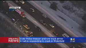 State Trooper, Tow Truck Driver Hit By Vehicle On Interstate 95 In Wakefield [Video]