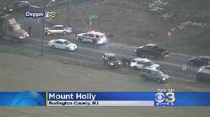 New Jersey State Trooper Involved In Crash In Burlington County [Video]
