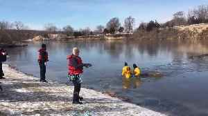 Firefighters rescue deer that fell through Lake Olathe ice [Video]