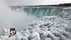It's so cold, parts of Niagara Falls are frozen [Video]