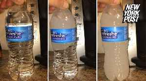 How does this bottle of water instantly freeze? [Video]