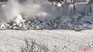 Extreme Temperatures Have Frozen Parts of Niagara Falls [Video]