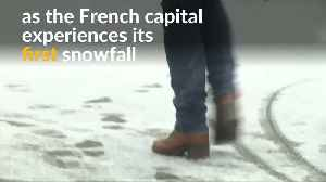 Paris covered in white in season's first snowfall [Video]